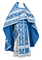 Russian Priest vestments - Iveron rayon brocade S3 (blue-silver), Standard design