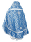 Russian Priest vestments - Nicholaev rayon brocade S3 (blue-silver) back, Standard design