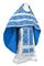Russian Priest vestments - Alania rayon brocade S3 (blue-silver), Economy design