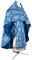 Russian Priest vestments - Vine Switch rayon brocade S3 (blue-silver), Standard design