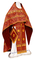 Russian Priest vestments - Shouya rayon brocade S3 (claret-gold), Standard design