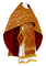 Russian Priest vestments - Byzantine rayon brocade S3 (claret-gold), Standard design