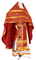 Russian Priest vestments - Ostrozh rayon brocade S3 (claret-gold), Economy design