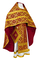 Russian Priest vestments - Nicholaev rayon brocade S3 (claret-gold), Standard design