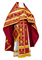 Russian Priest vestments - Iveron rayon brocade S3 (claret-gold), Standard design