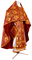 Russian Priest vestments - Vine Switch rayon brocade S3 (claret-gold), Standard design