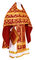 Russian Priest vestments - Loza rayon brocade S3 (claret-gold), Economy design