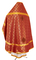 Russian Priest vestments - Ostrozh rayon brocade S3 (claret-gold) back, Economy design