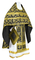 Russian Priest vestments - Loza rayon brocade S3 (black-gold), Economy design