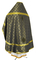 Russian Priest vestments - Ostrozh rayon brocade S3 (black-gold) back, Economy design