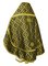 Russian Priest vestments - Nicholaev rayon brocade S3 (black-gold) back, Standard design
