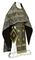 Russian Priest vestments - Shouya rayon brocade S3 (black-gold), Standard design