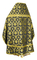 Russian Priest vestments - Loza rayon brocade S3 (black-gold) back, Economy design