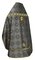 Russian Priest vestments - Shouya rayon brocade S3 (black-gold) (back), Standard design