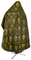 Russian Priest vestments - Vine Switch rayon brocade S3 (black-gold) back, Standard design