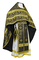 Russian Priest vestments - Old Greek rayon brocade S3 (black-gold), Standard design