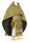 Russian Priest vestments - Byzantine rayon brocade S3 (black-gold), Standard design