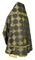 Russian Priest vestments - Kolomna rayon brocade S3 (black-gold) back, Standard design