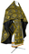 Russian Priest vestments - Vine Switch rayon brocade S3 (black-gold), Standard design