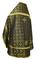 Russian Priest vestments - Old Greek rayon brocade S3 (black-gold) back, Standard design