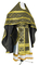 Russian Priest vestments - Ostrozh rayon brocade S3 (black-gold), Economy design