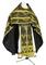 Russian Priest vestments - Vinograd rayon brocade S3 (black-gold), Economy design