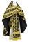Russian Priest vestments - Iveron rayon brocade S3 (black-gold), Standard design