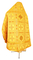Russian Priest vestments - Iveron rayon brocade S3 (yellow-gold) back, Standard design