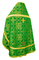 Russian Priest vestments - Iveron rayon brocade S3 (green-gold) back, Standard design