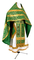 Russian Priest vestments - Nicea rayon brocade S3 (green-gold), Economy design
