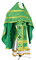 Russian Priest vestments - Ostrozh rayon brocade S3 (green-gold), Economy design