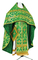 Russian Priest vestments - Korona rayon brocade S3 (green-gold), Standard design