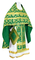Russian Priest vestments - Loza rayon brocade S3 (green-gold), Economy design