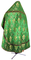 Russian Priest vestments - Vine Switch rayon brocade S3 (green-gold) back, Standard design
