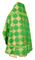 Russian Priest vestments - Kolomna rayon brocade S3 (green-gold) back, Standard design
