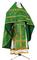 Russian Priest vestments - Jerusalem Cross rayon brocade S3 (green-gold), Standard design