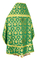Russian Priest vestments - Loza rayon brocade S3 (green-gold) back, Economy design