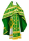 Russian Priest vestments - Iveron rayon brocade S3 (green-gold), Standard design
