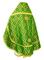 Russian Priest vestments - Nicholaev rayon brocade S3 (green-gold) back, Standard design