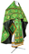 Russian Priest vestments - Vine Switch rayon brocade S3 (green-gold), Standard design