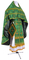 Russian Priest vestments - Custodian rayon brocade S3 (green-gold), Standard design