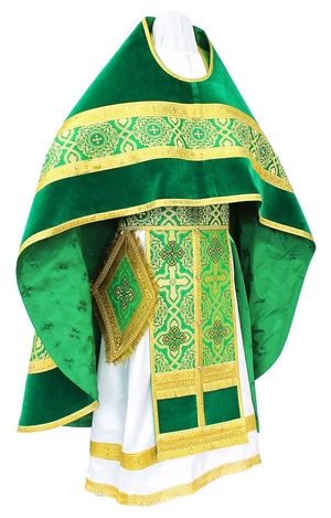 Russian Priest vestments - rayon brocade S3 (green-gold)
