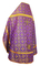 Russian Priest vestments - Old Greek rayon brocade S3 (violet-gold) back, Standard design