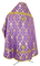Russian Priest vestments - Korona rayon brocade S3 (violet-gold) back, Standard design