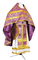 Russian Priest vestments - Zlatoust rayon brocade S3 (violet-gold), Economy design