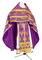 Russian Priest vestments - Vinograd rayon brocade S3 (violet-gold), Economy design