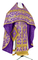 Russian Priest vestments - Korona rayon brocade S3 (violet-gold), Standard design