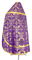 Russian Priest vestments - Koursk rayon brocade S3 (violet-gold) back, Economy design
