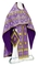 Russian Priest vestments - Shouya rayon brocade S3 (violet-gold), Standard design