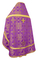 Russian Priest vestments - Iveron rayon brocade S3 (violet-gold) back, Standard design
